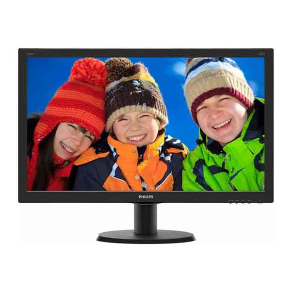 "Монитор Philips 23.8"" 240V5QDAB (00/01) черный IPS LED 16:9 DVI HDMI M/M матовая 250cd 1920x1080 D-Sub FHD 4.08кг"