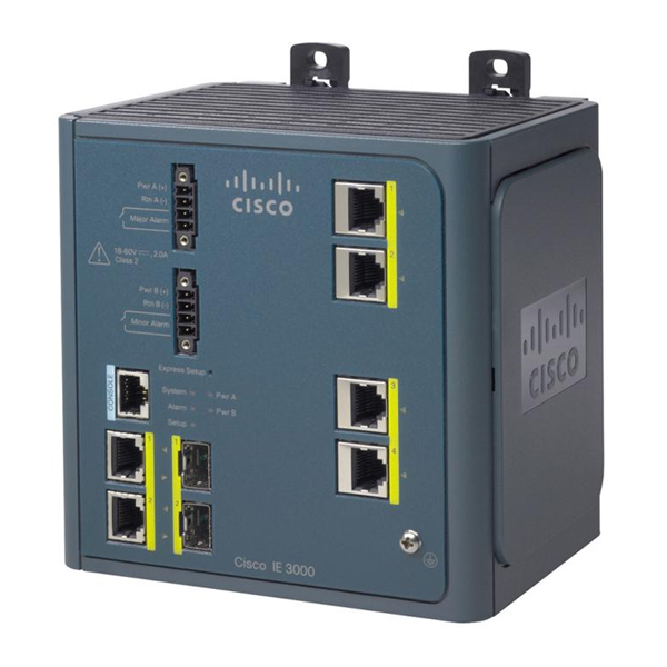 Cisco  IE-3000-4TC  Cisco IE 3000 Switch, 4 10/100 + 2 T/SFP