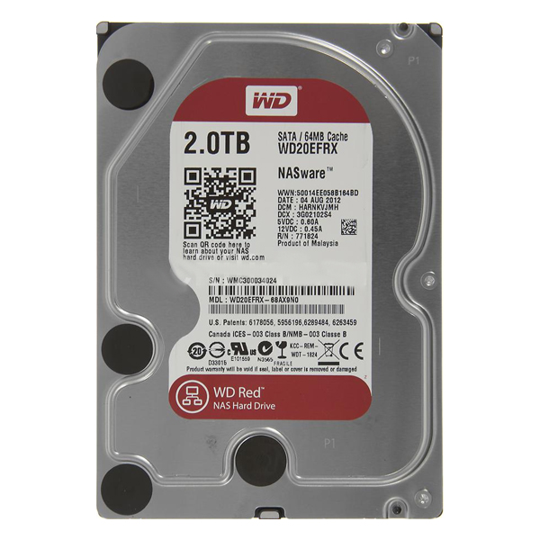 "HDD WD SATA-III  2Tb WD20EFRX Red 64Mb 3.5""  (жесткий диск)"