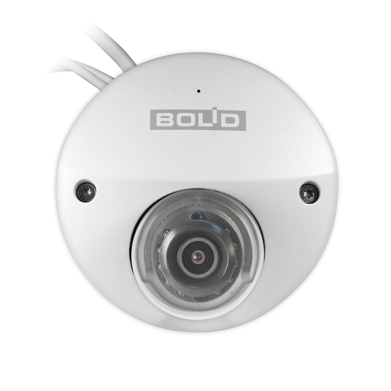 Видеокамера BOLID IP VCI-722 (2.8mm) 2.0Mp mini dome (встроенный микрофон), H.265